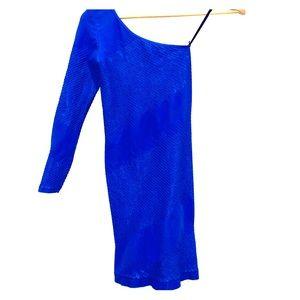Spandex one shoulder long sleeve dress size xs/s